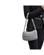 Angela handtasje met klep van hergebruikte bliklipjes