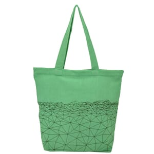 Bahra - spacious cotton shopper with hip pattern - mint green