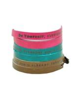 Inspire! eco armbandje: met motto: Be yourself, everyone else is already taken - div. kleuren