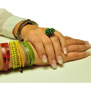 Colombianas - set kleurrijke handgemaakte armbandjes - groen - geel - oranje