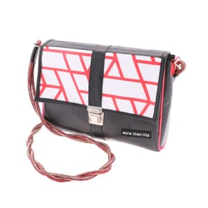 Roza - Beautiful ladies shoulder bag from recycled billboards