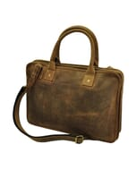 "Virginia - elegante dames 15,6"" laptoptas van vintage ecoleer"