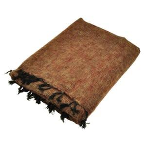 Indra - 'yakwol' plaid of terrasdeken - cognac bruin