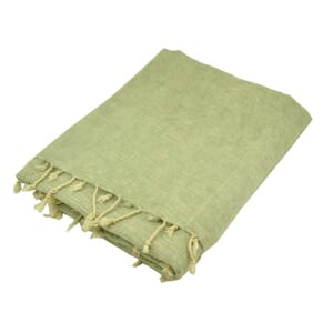 Indra - 'yakwol' plaid of terrasdeken - grijs crème