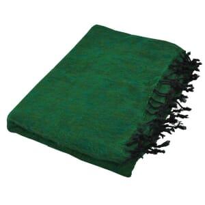 Indra - 'yakwol' plaid of terrasdeken - smaragdgroen