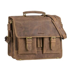 Detroit – luxurious 13,3'' work bag of leather with vintage look