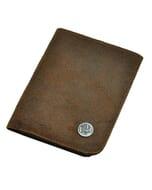 Dinero - portemonnee van ecoleer - bruin