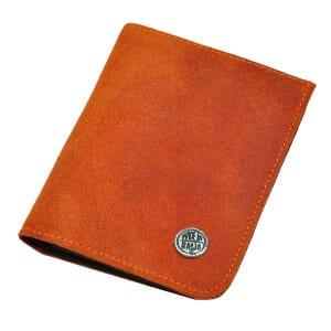 Dinero - portemonnee van ecoleer - oranje