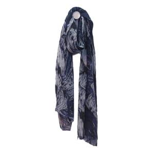Himalaya - fijne wollen sjaal - donkerblauw