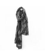 Himalaya - fijne wollen sjaal - donkergrijs