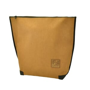 Locca - urban shopper, shoulderbag and backpack from recycled paper - camel brown