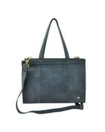 Elegante - 14 inch dames laptoptas ecoleer - grijsblauw