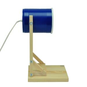 Iliui - Tafellamp van gerecycled blik - blauw