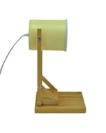 Iliui - Tafellamp van gerecycled blik - pastel geel
