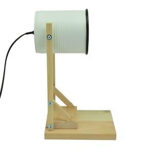 Iliui - Tafellamp van gerecycled blik - wit