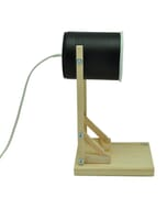 Iliui - Tafellamp van gerecycled blik - zwart