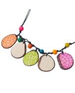 Girasol - verstelbare ketting van tagua - multicolour