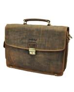 Montana - luxe vintage leren laptoptas/aktetas 15.4 inch