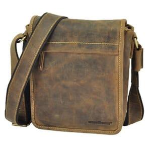 Colorado - vintage bruine leren schoudertas met strak design