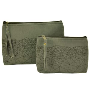 Halla - purse or make-up case made of thick hand woven cotton - grey