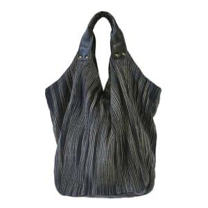 Hava bag - hippe katoenen schoudertas - zwart gestreept