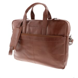 Oliver - spacious leather laptop bag for laptops up to 15.4 inch