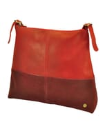 Hermosa – elegante two-tone shopper van ecoleer - rood