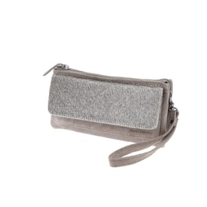Coco - handy shoulder bag or clutch of suede & buffalo skin with lots of pockets