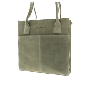 Grace – sturdy and elegant suede ladies work bag - soft green