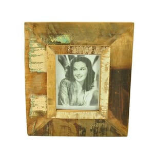 Vintage photo frame from scrapwood – large