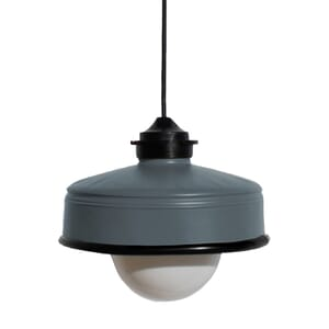 Iliui - Pendant from recycled  Illy coffee can - grey