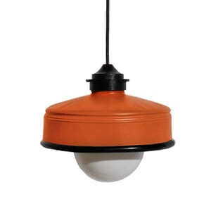 Iliui - Pendant from recycled  Illy coffee can - orange