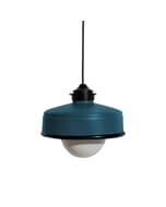 Iliui - Hanglamp van gerecycled  Illy koffieblik - petrol blauw