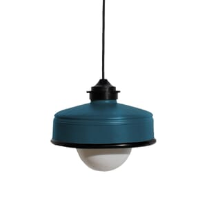 Iliui - Pendant from recycled  Illy coffee can - petrol blue