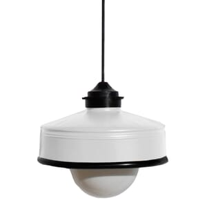 Iliui - Pendant from recycled  Illy coffee can - white