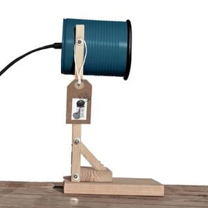 Iliui - Tafellamp van gerecycled blik - petrol blauw