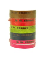 Inspire! eco armbandje met motto: Be the change you wish to see in the world