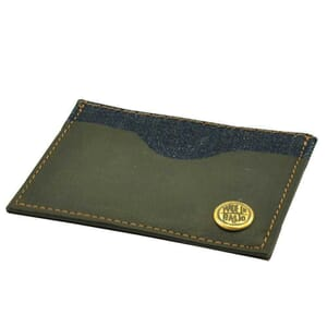 Mini portemonneetje/pasjeshouder van spijkerstof en vaquetta leer - sample