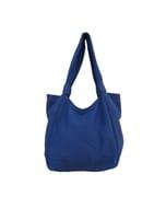 Jogi Shopper - hippe katoenen schoudertas - blauw