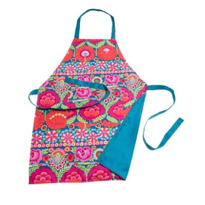Abba – apron in cheerful KAFFE FASSETT flower design