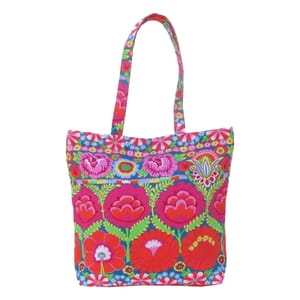 Vilasi – shopper in cheerful KAFFE FASSETT flower design