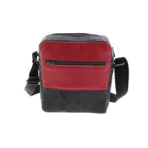 Cefalu - kleine schoudertas van gerecyclede leren jassen