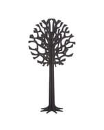 Lovi houten briefkaart met 3D boom 16,5cm - zwart