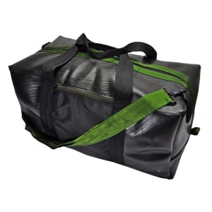 Viajero - large bag from tyre tube - army green
