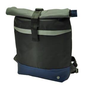 """Mar - ruime en waterafstotende 17"""" laptop rugtas met urban look - blauw"""