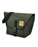 Arco - messenger schoudertas van gerecycled papier - zwart