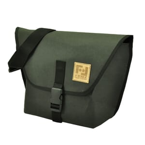 Arco – messenger bag from recycled paper - black
