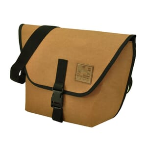 Arco – messenger bag from recycled paper - camel brown