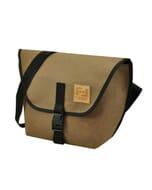 Arco - messenger schoudertas van gerecycled papier - chocolade bruin