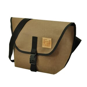 Arco – messenger bag from recycled paper - chocolate brown